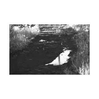 fotografía del lago impresión en tela