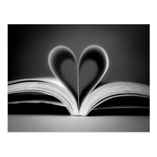 Fotografía del libro del corazón postales