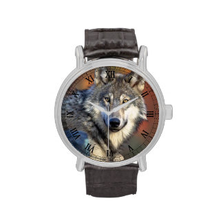 Fotografía del lobo relojes de pulsera