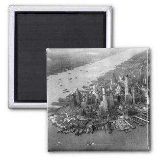 Fotografía del Lower Manhattan Imán Cuadrado