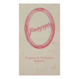 Fotografía del marco del vintage plantillas de tarjetas de visita