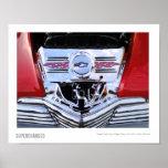 Fotografía del motor del coche de carreras de Chev Impresiones