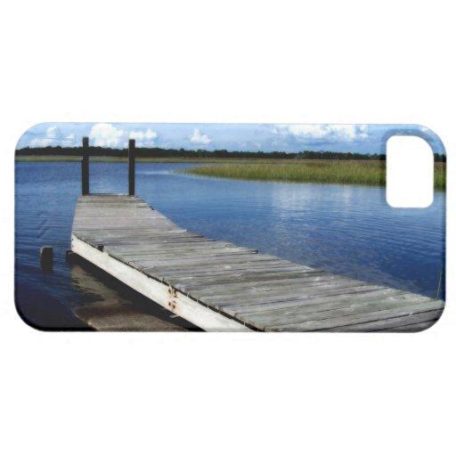 Fotografía del muelle de la pesca iPhone 5 fundas