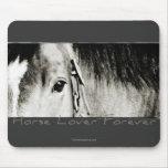 Fotografía del ojo del caballo tapete de raton
