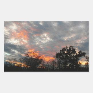 Fotografía del paisaje de la naturaleza de la pegatina rectangular