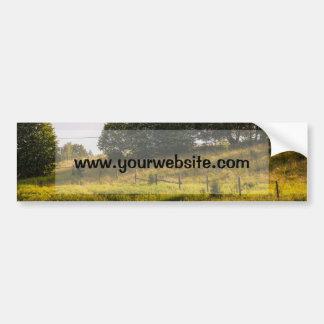Fotografía del paisaje del prado de la puesta del pegatina para coche