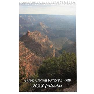 Fotografía del parque nacional del Gran Cañón Calendario De Pared
