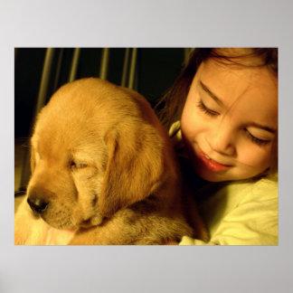 Fotografía del perro de perrito del golden retriev impresiones