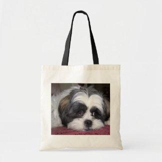 Fotografía del perro de Shih Tzu Bolsa De Mano