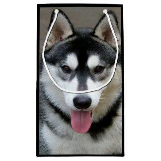 Fotografía del perro del Malamute de Alaska Bolsa De Regalo Pequeña