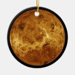 Fotografía del planeta Venus Adorno Navideño Redondo De Cerámica