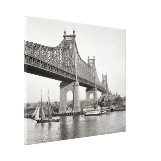 Fotografía del puente de NYC Queensboro Impresión En Lona Estirada