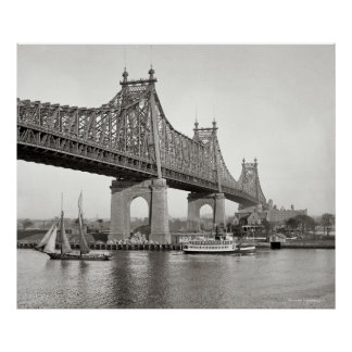Fotografía del puente de NYC Queensboro Póster
