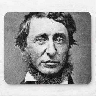 Fotografía del retrato de Henry David Thoreau Tapetes De Ratón