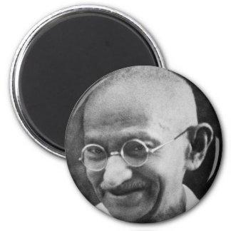 Fotografía del retrato de Mahatma Gandhi Imán Redondo 5 Cm