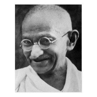 Fotografía del retrato de Mahatma Gandhi Tarjeta Postal
