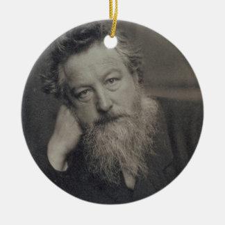 Fotografía del retrato de William Morris (1834-96) Adorno Navideño Redondo De Cerámica