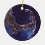 Fotografía del satélite de Cape Cod Ornamento De Reyes Magos