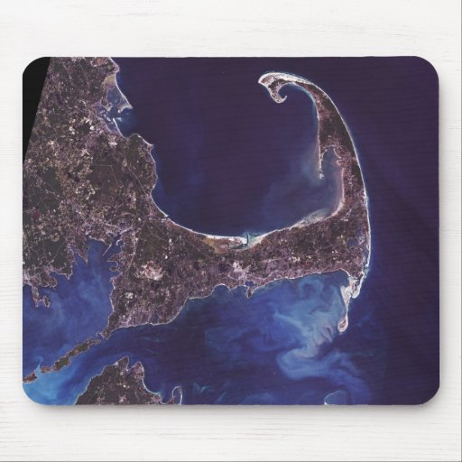 Fotografía del satélite de Cape Cod Mouse Pad