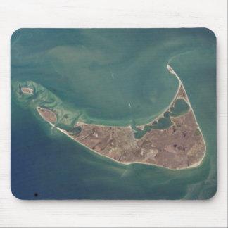 Fotografía del satélite de Nantucket Alfombrillas De Ratón