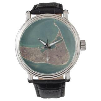 Fotografía del satélite de Nantucket Reloj