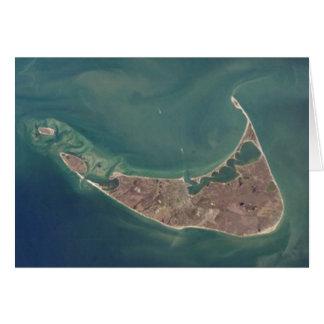 Fotografía del satélite de Nantucket Tarjeta De Felicitación