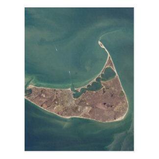 Fotografía del satélite de Nantucket Tarjeta Postal