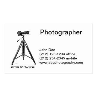 Fotografía del trípode plantilla de tarjeta de visita