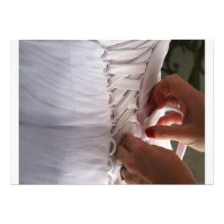 Fotografía del vestido de boda del cordón de la ma comunicado personalizado