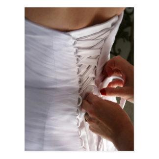 Fotografía del vestido de boda del cordón de la postales