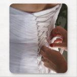 Fotografía del vestido de boda del cordón de la alfombrilla de ratón