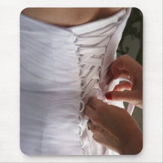 Fotografía del vestido de boda del cordón de la mouse pads