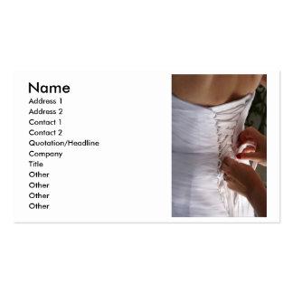 Fotografía del vestido de boda del cordón de la tarjetas de visita