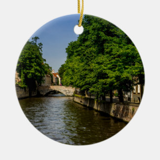 Fotografía del viaje de Bélgica, canal de Brujas Adornos