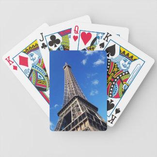 Fotografía del viaje de Francia de la torre Eiffel Baraja De Cartas Bicycle