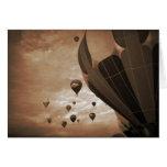 Fotografía del vintage del globo del aire caliente tarjetas