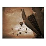 Fotografía del vintage del globo del aire caliente tarjetas postales