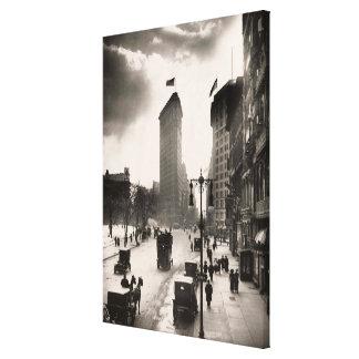 Fotografía del vintage del hierro plano de NYC que Impresión En Lienzo