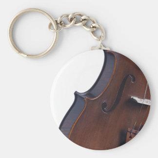 Fotografía del violín o de la viola llavero redondo tipo pin