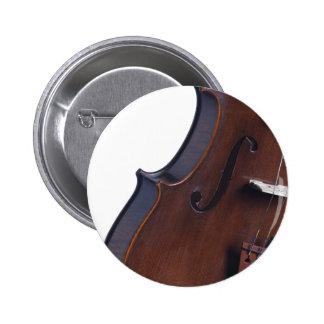 Fotografía del violín o de la viola pin redondo 5 cm