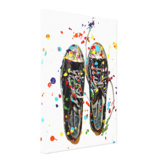 Fotografía del zapato del paseo del arte impresión de lienzo