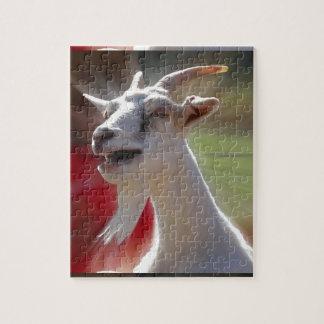 Fotografía divertida de la cabra de Tallking Rompecabezas