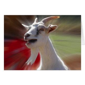 Fotografía divertida de la cabra de Tallking Tarjeta De Felicitación
