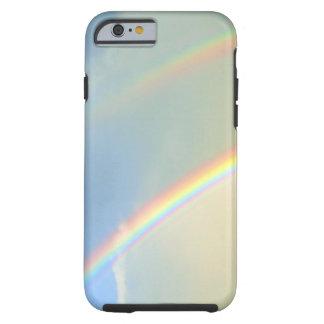 Fotografía doble del arco iris funda para iPhone 6 tough