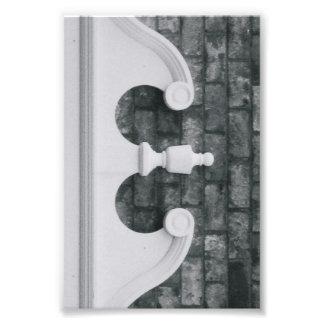 Fotografía E6 4x6 blanco y negro de la letra del a