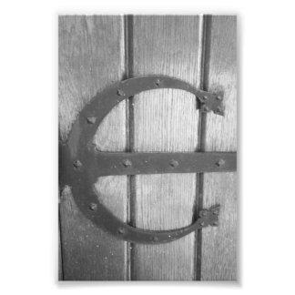 Fotografía E7 4x6 blanco y negro de la letra del Foto
