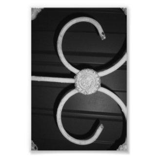 Fotografía E8 4x6 blanco y negro de la letra del Fotografía