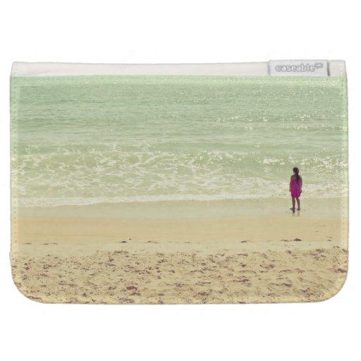 Fotografía en colores pastel de la playa