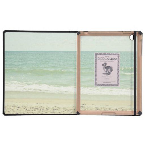 Fotografía en colores pastel de la playa de la ver iPad carcasas