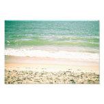 Fotografía en colores pastel de la playa de las on